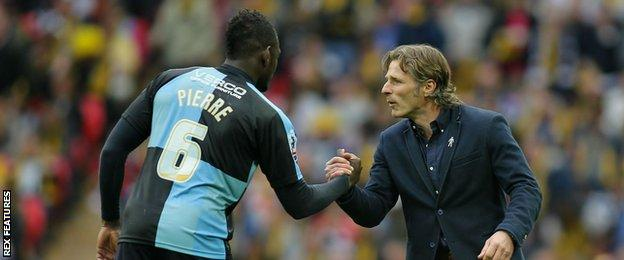 Aaron Pierre and Gareth Ainsworth
