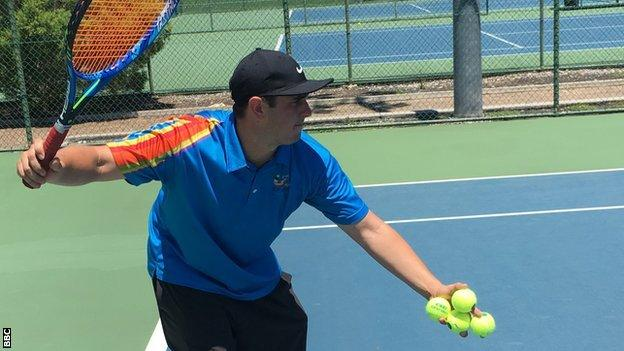 Livinnia Wood's tennis coach Josh Barrenechea