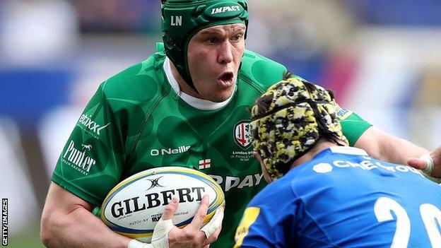 London Irish captain Luke Narraway