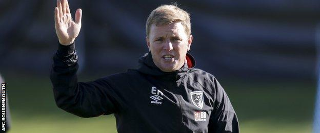 Eddie Howe is in his second spell as manager of Bournemouth