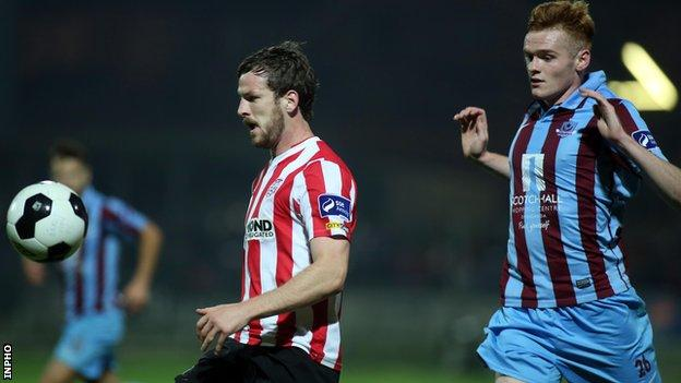 Derry face a Drogheda side sitting third in the First Division