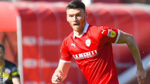 Barnsley striker Kieffer Moore