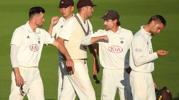 Surrey captain Rory Burns' return to form, with 155 runs in the match against Sussex, helped earn his side their first Bob Willis Trophy win