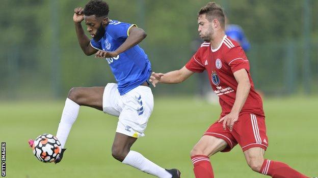 Beni Baningime has played 12 times for Everton