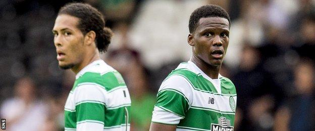 Virgil van Dijk (left) moved south of the border while Dedryck Boyata moved north from Manchester City