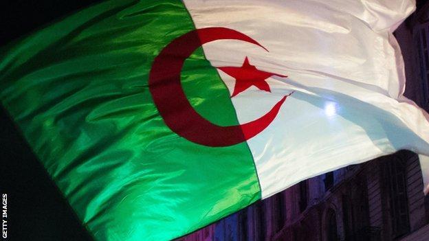 An Algerian flag