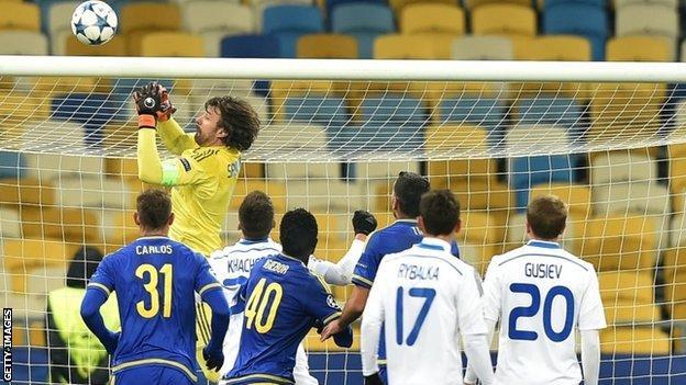 Dynamo Kiev's last home group game against Maccabi Tel Aviv was also behind closed doors