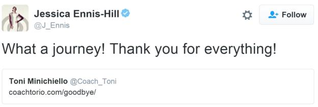 Jess Ennis-Hill tweet