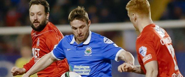 Linfield had a chance to cut the gap at the top to four points but lost 2-1 away to Portadown