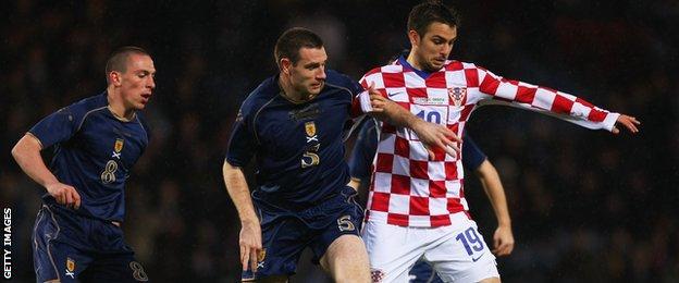 Niko Kranjcar in action against Scotland