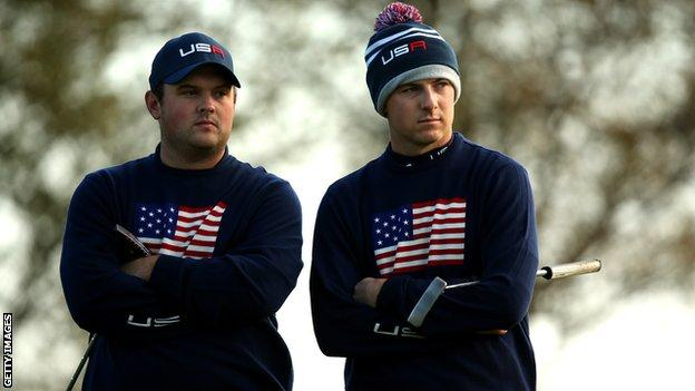 Jordan Spieth and Patrick Reed at the Ryder Cup in 2014