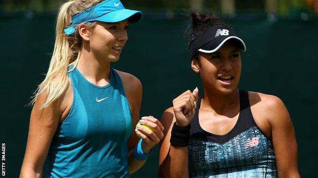 Katie Boulter (left) and Heather Watson