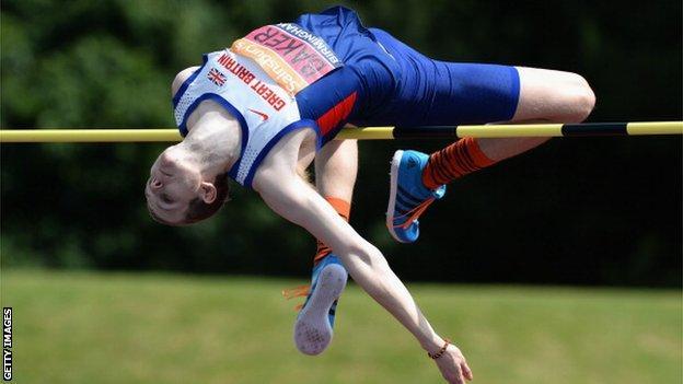 British high jumper Christopher Baker