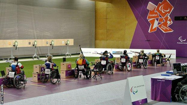 Disability athletes competing at the 2012 Paralympics