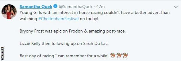Former GB hockey player Sam Quek said both Frost and Kelly are superb role models - Twitter screengrab