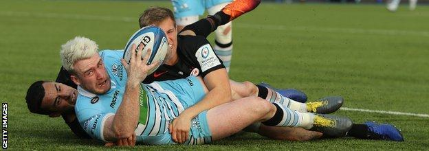 Stuart Hogg made his comeback in the defeat by Saracens