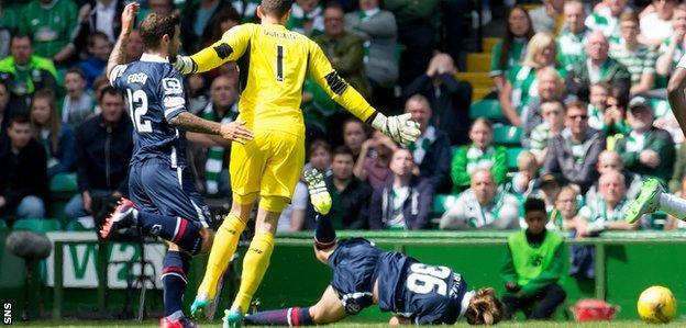 Craig Gordon sends Jackson Irvine tumbling