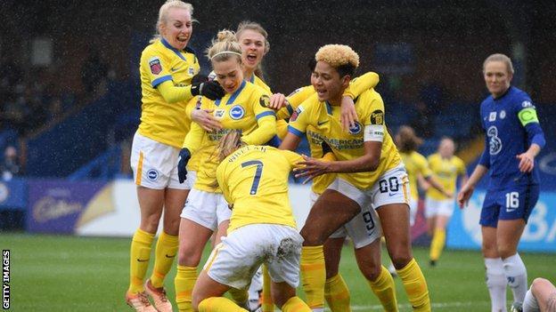 Brighton women celebrate