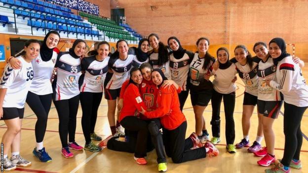 Egypt's 2018 Women's World Junior Handball Championships squad