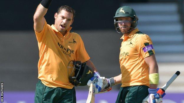 Nottinghamshire batsmen Michael Lumb and Riki Wessels