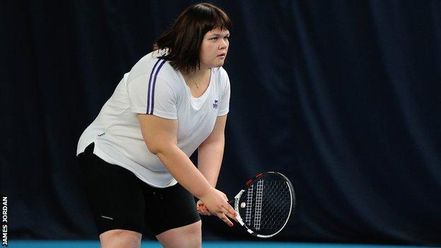 Rosie Pybus, visually impaired tennis player and coach