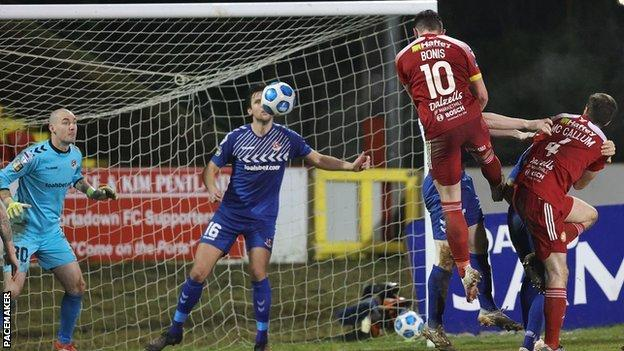 Irish Premiership: Portadown grab point with late equaliser in 2-2 draw  with Crusaders - BBC Sport