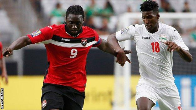Kenwyne Jones in action for Trinidad and Tobago