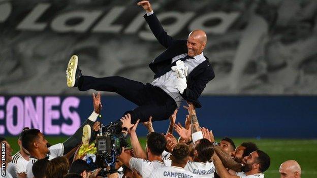 Real Madrid Villarreal Real Win First La Liga Title In Three Years BBC Sport