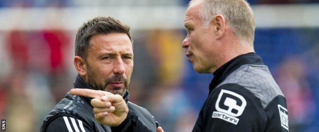 Aberdeen manager Derek McInnes and Inverness counterpart John Hughes