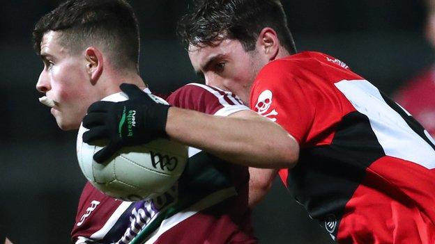Aaron Boyle was sent off for St Mary's ion the second half