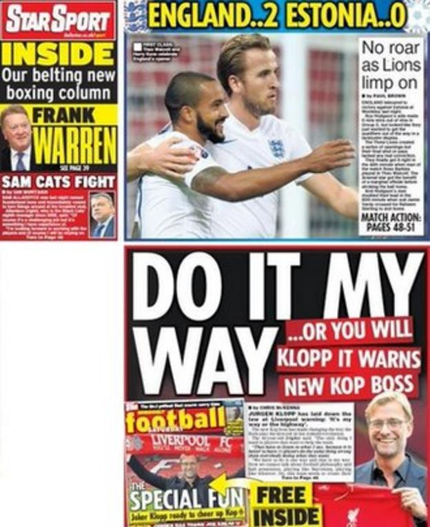 Saturday's Daily Star back page
