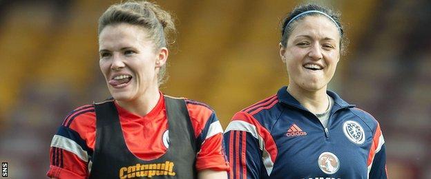 Scotland's Jo Love and Gemma Fay
