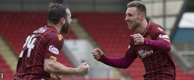 James McFadden (left) and Louis Moult