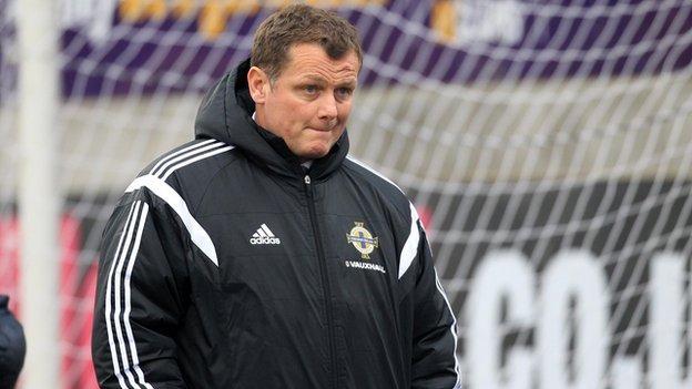 Jim Magilton's side went ahead against Ukraine but lost 2-1