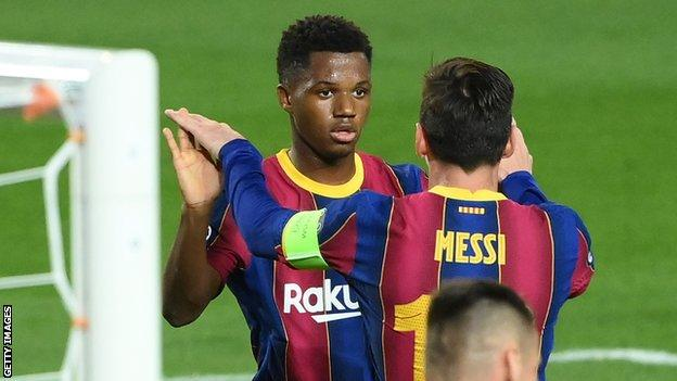 Ansu Fati & Lionel Messi