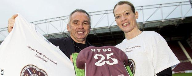 Colquhoun and Eilidh Child have been made ambassadors for the Hearts Youth Development Committee