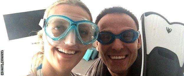 Petra Kvitova and fitness trainer David Vydra