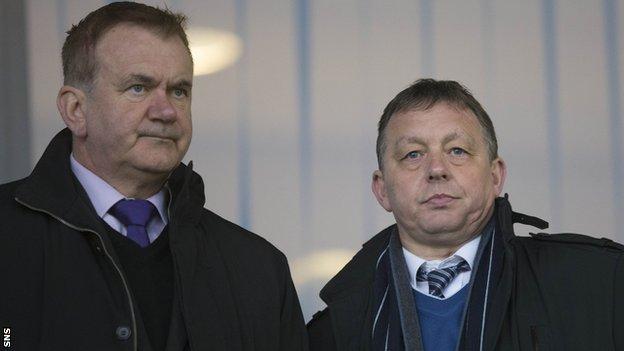 Gordon Dalziel and Billy Davies at St Mirren Park