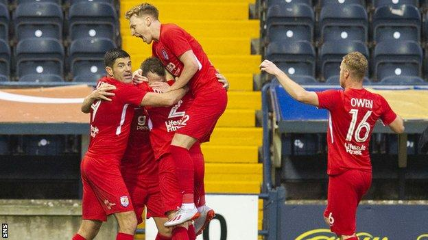 Connah's Quay players celebrating