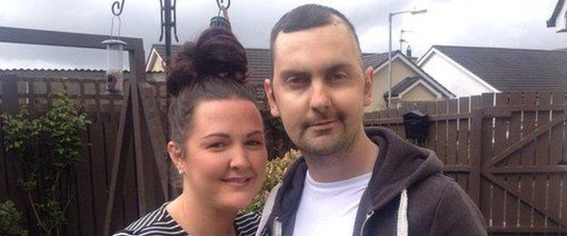 Mark Farren pictured with his wife Terri-Louise