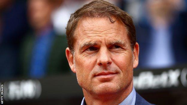 Frank de Boer used to coach the Premier League side Crystal Palace