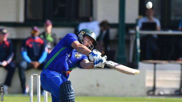 Stuart Thompson top scored for North-West Warriors with 36 runs