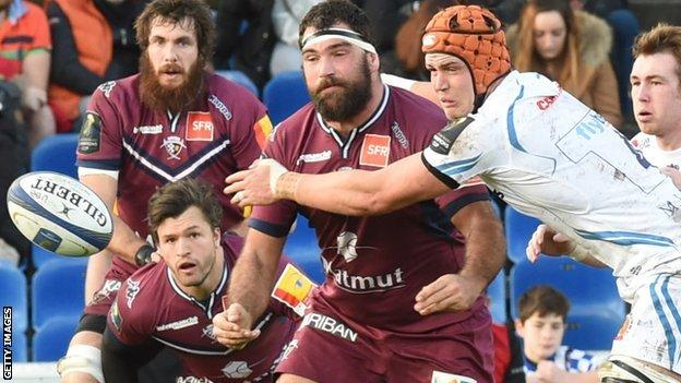 Exeter against Bordeaux