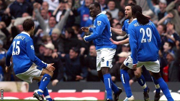 Steve Bruce is not the only ex-Blues man on duty at Villa Park on Sunday. First team coach Stephen Clemence (left, celebrating Emile Heskey's opener at St Andrew's in March 2005) played in two of Birmingham's four derby victories under Bruce