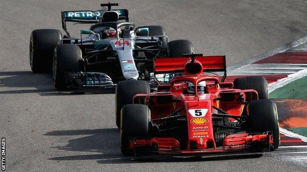Hamilton has been involved in several battles with Sebastian Vettel throughout the season