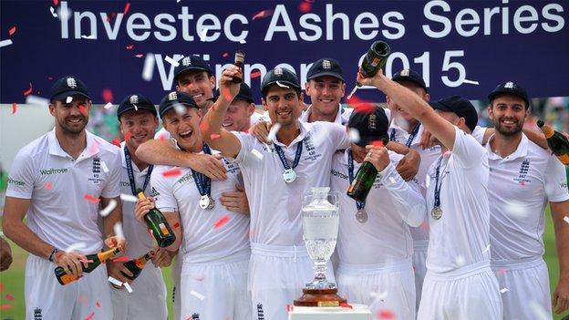 England Ashes team 2015