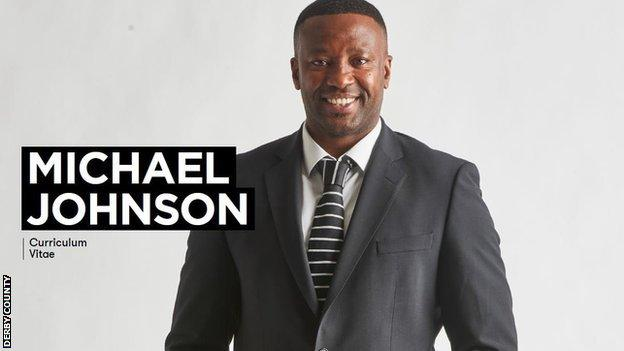 Front cover of Michael Johnson's CV
