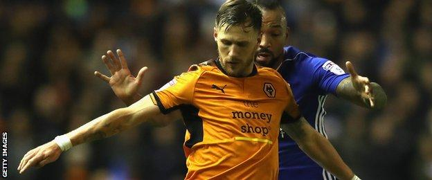 Barry Douglas in action for Wolves