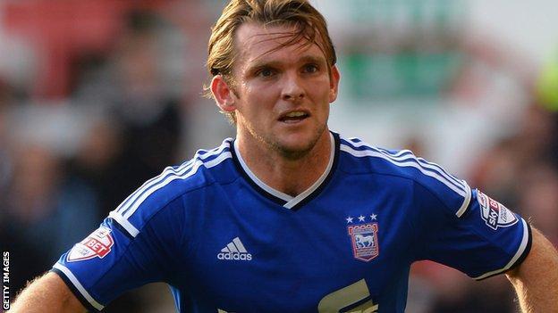 Ipswich midfielder Jay Tabb
