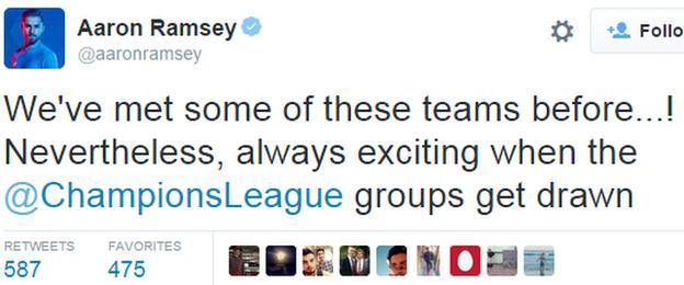 Aaron Ramsey tTwitter